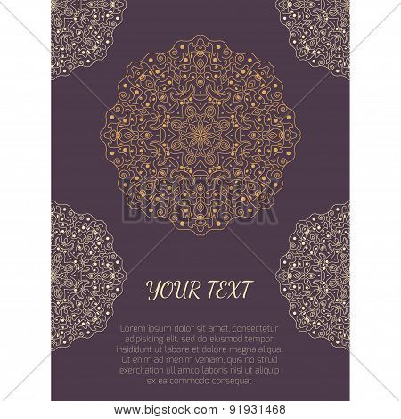 Poster With Round Ornaments And Place For Text