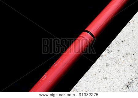 Diagonal Red Railing