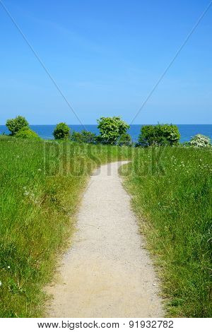 Small Path With View Of The Sea
