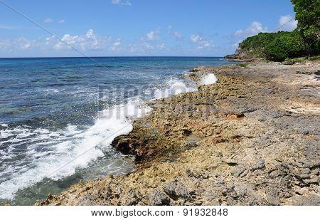Seaside Of Anse Bertrand In Guadeloupe