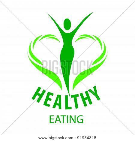 Vector Logo Fork, Knife And Vegetables
