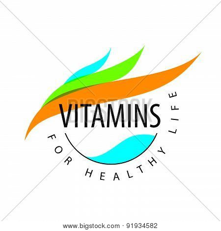 Vector Logo Vitamins Colored Petals