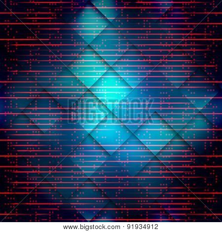 Dark blue matrix pattern with the imitation of dots