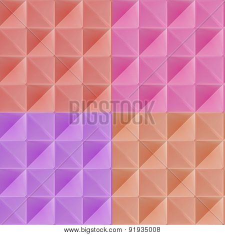 Triangle vector seamless pattern, geometric tile