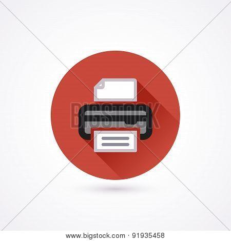 Flat Icon. Printer