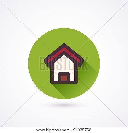 Flat Icon. Home
