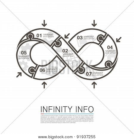 Infinity icons puzzle