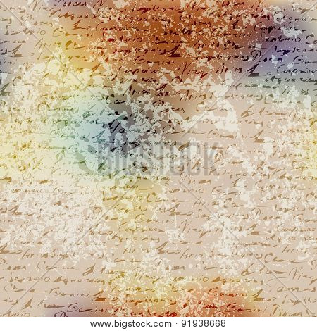 Grunge blur pattern with manuscript elements.