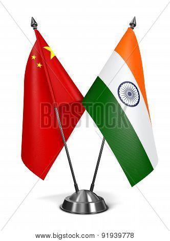 India and China - Miniature Flags.