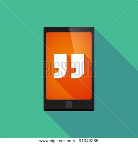 Long Shadow Phone Icon With Quotes