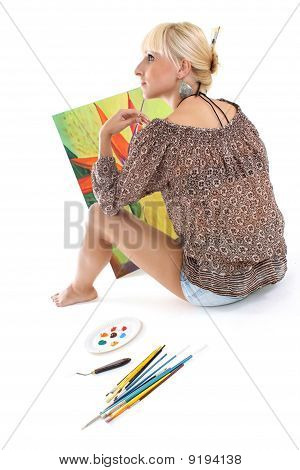 Woman Painter Dreaming