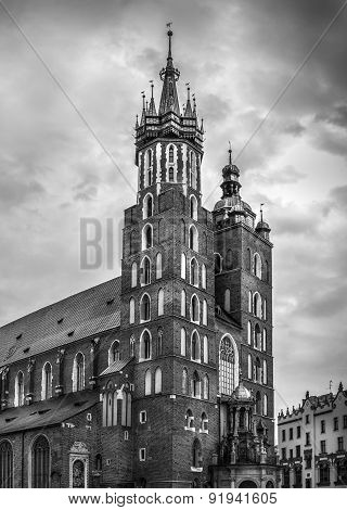 Mariacki Church In Cracow, Poland