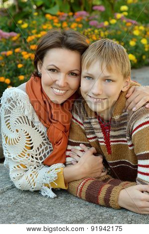 Nice Mother and son