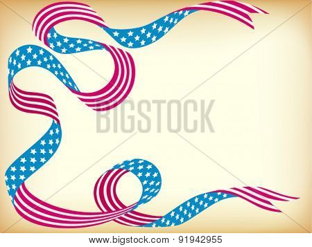 National holiday ribbon card