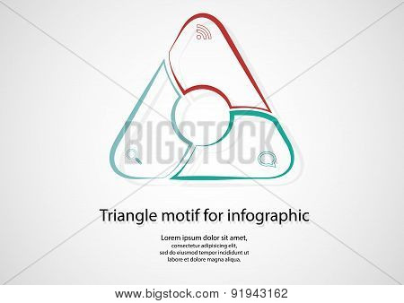 Triangle Infographic Consists Of Lines On Light