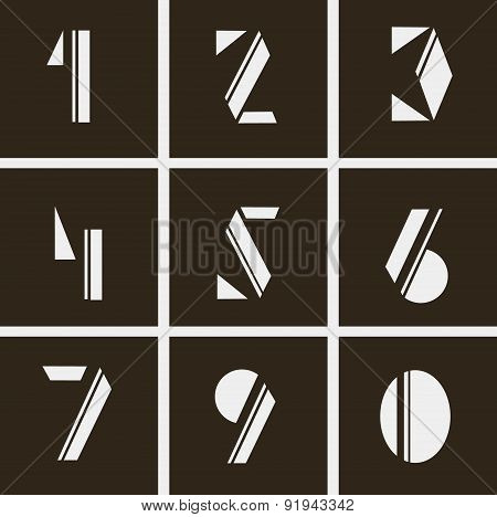 Numerals. Numbers Of Geometric Shapes