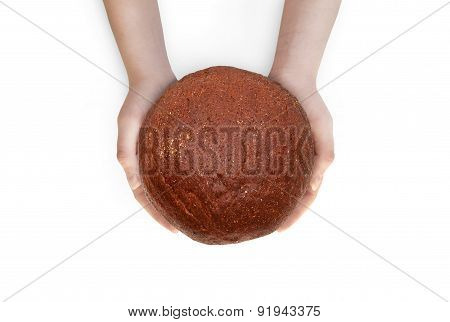 Women Holds A Bread In His Hands