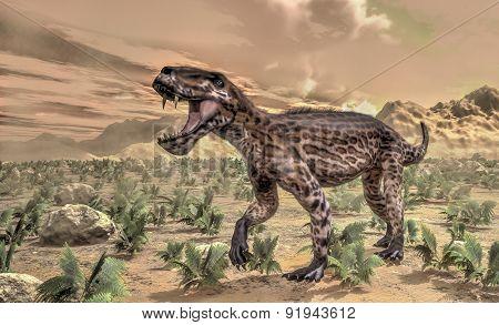 Lycaenops dinosaur - 3D render