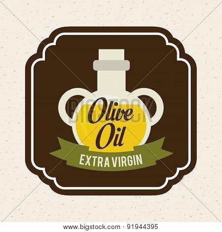 Olives design over beige background vector illustration