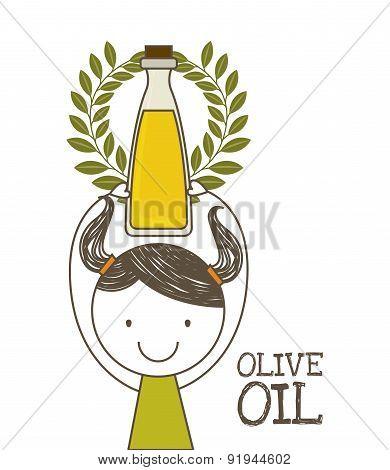 Olives design over white background vector illustration