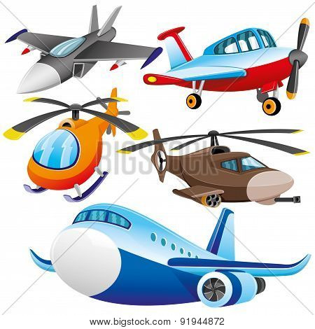 Vector set. Aviation.