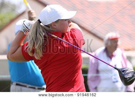 Caroline Hedwall At The Ana Inspiration Golf Tournament 2015