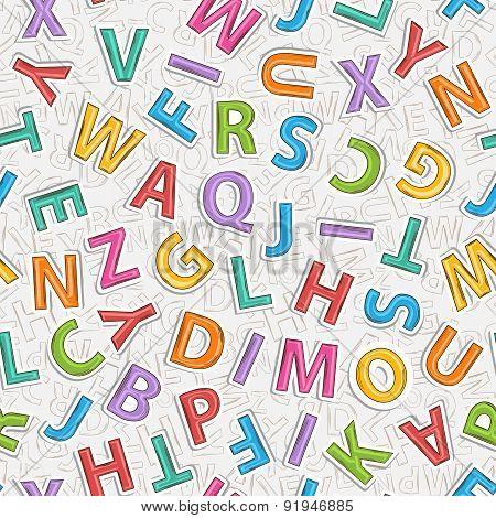 Alphabet letter pattern