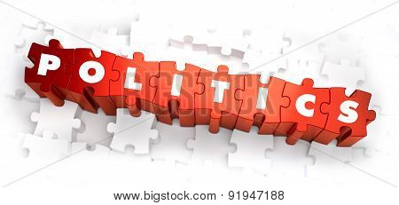 Politics - Text on Red Puzzles.