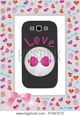 Phone in gift box love