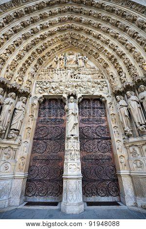 Notre Dame De Paris, Gothic Portal, France