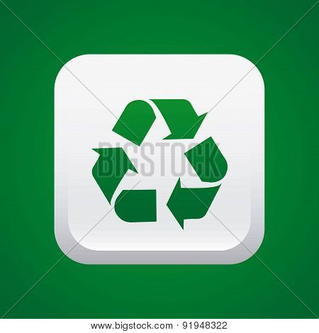 Ecology design over green background vector illustration