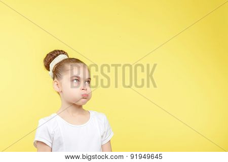 Small girl showing different emotions