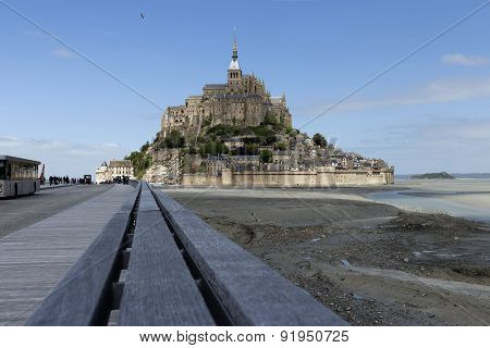 The handles leading to Mont St Michel