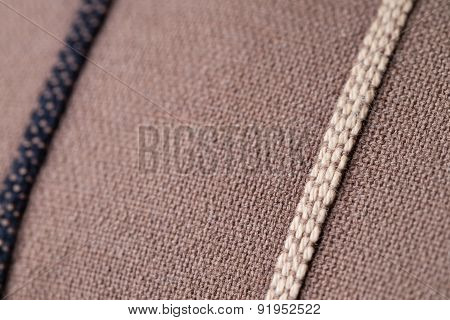 Brown Fabric Lines