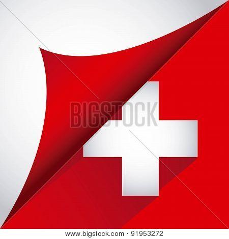 Swiss flag design over white background vector illustration