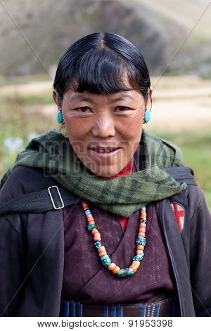 Tibetan Woman In Dolpo, Nepal