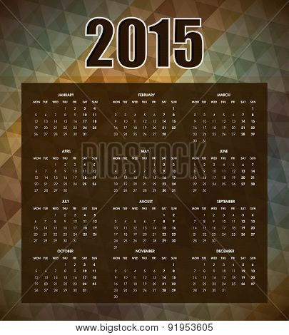 New year design over brown background vector illustration