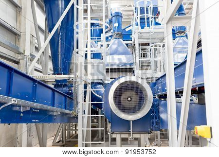 Waste Plant Inside Process Storage Methane Oil Organic