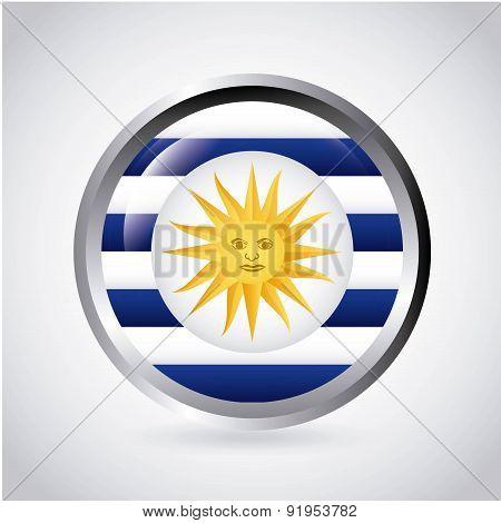 Uruguay design over white background vector illustration