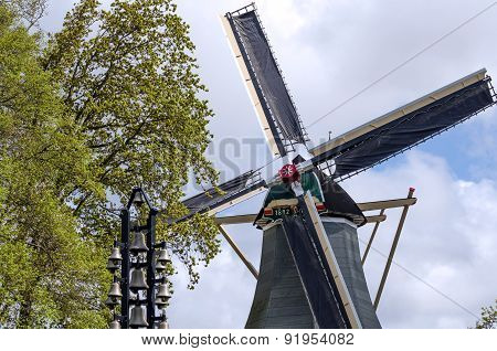 Old Windmill In Keukenhof, Lisse