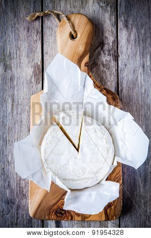 Whole Camembert Cheese And Portion