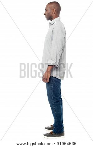 Side Pose Of Casual Man.