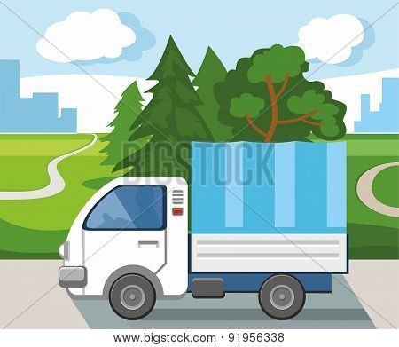 A Truck Transporting Goods Fr...