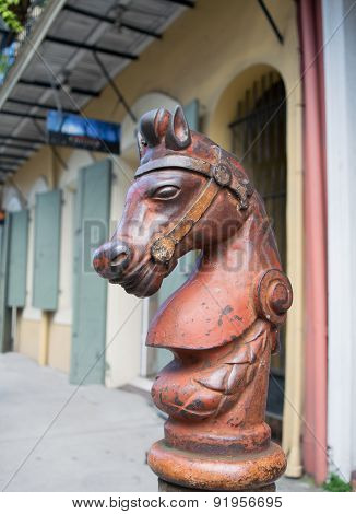 Cast Iron Horse Hitching Post New Orleans