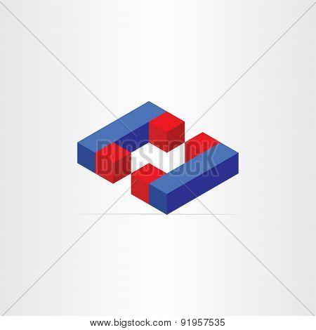 3D Magnets Letter C Icon