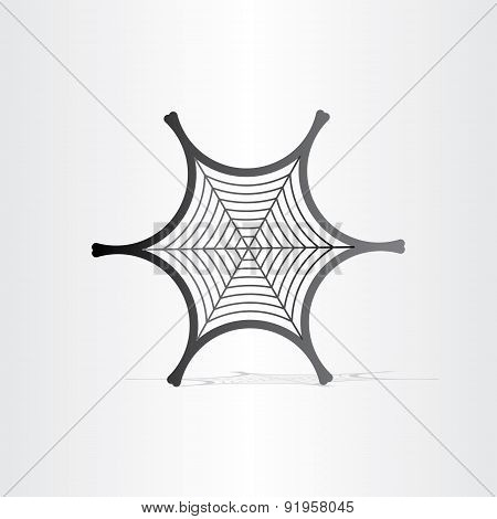 Black Spider Web Symbol