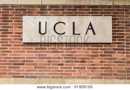 Ucla Campus Entrance Sign