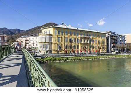 Old City Bad Ischl At Traun River