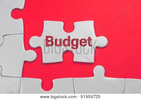 Budget Text - Business Concept