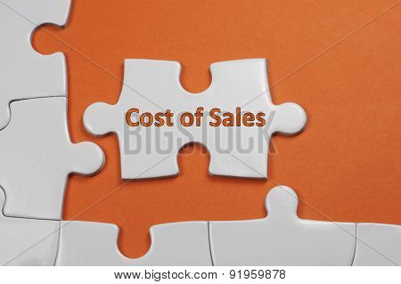 Cost Of Sales Text - Business Concept